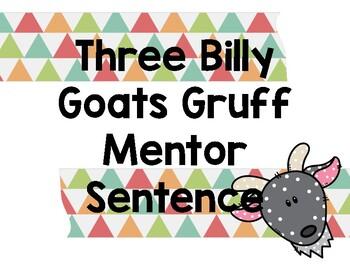 Three Billy Goats Gruff Mentor Sentence