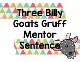 Three Billy Goats Gruff Mentor Sentence