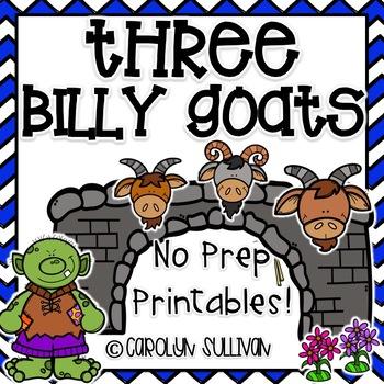 Three Billy Goats Gruff NO PREP Printable