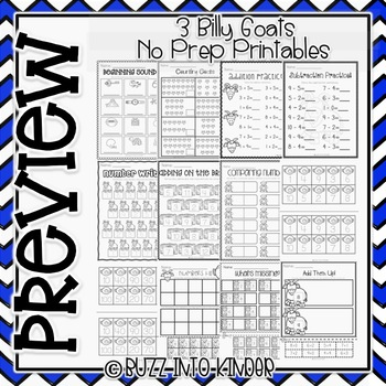Three Billy Goats Gruff NO PREP Printable