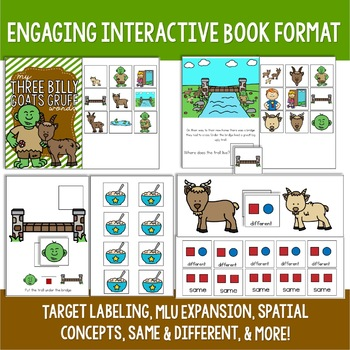 Three Billy Goats Gruff Preschool Language Unit
