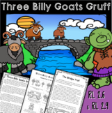 Three Billy Goats Gruff - RL 2.2, RL 2.6 & RL 2.9