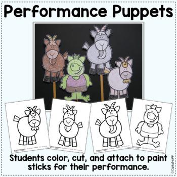 Three Billy Goats Gruff - Reader's Theater & Puppet Fun!