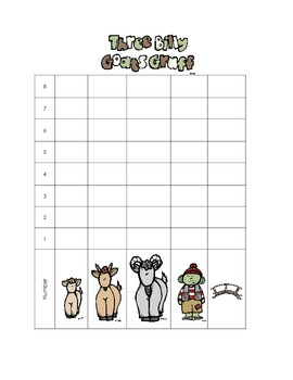 Three Billy Goats Gruff Sorting, Counting and Graphing Math Station