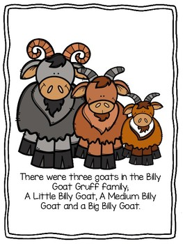 Three Billy Goats Gruff - Story and Props