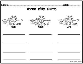 Three Billy Goats Gruff Unit