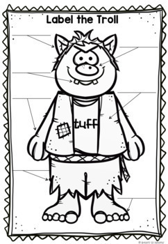 Three Billy Goats Gruff Word Wall, Masks, Sequencing and Writing Activities