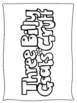 Three Billy Goats Gruff themed Coloring Worksheets preschool educational sheets.