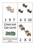 Three Billy Goats Gruff themed Count and Clip preschool educational game.