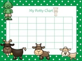 Three Billy Goats Gruff themed Daycare Health Hygiene Potty Chart and Certificat