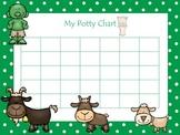 Three Billy Goats Gruff themed Daycare Health Hygiene Pott