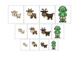 Three Billy Goats Gruff themed Size Sorting preschool educational game.