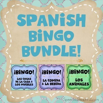 Three Bingo Products in One {BUNDLE} - Spanish Version