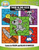 Three Blind Mice Color By Code Clipart {Zip-A-Dee-Doo-Dah Designs}
