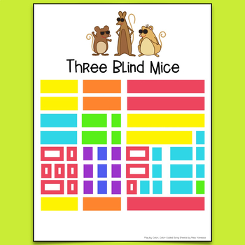 Three Blind Mice Song Sheet