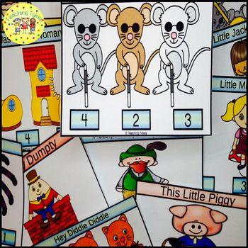 Three Blind Mice Count and Clip Task Cards