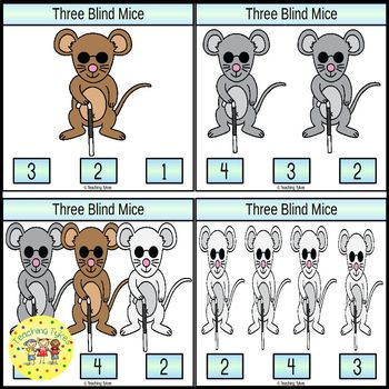 Three Blind Mice Task Cards