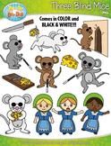 Three Blind Mice Nursery Rhyme Clipart {Zip-A-Dee-Doo-Dah Designs}
