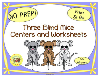 Three Blind Mice Worksheets Activities Games Printables and More
