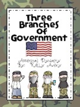 Three Branches of Federal Government, Executive, Legislative, and Judicial