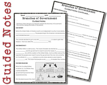 Branches of Government (Booklet & PowerPoint)