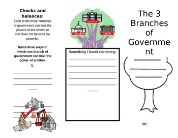 Three Branches of Government Booklet