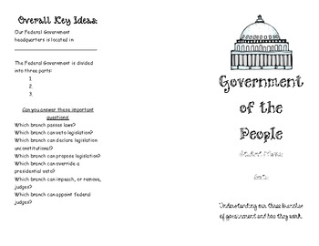 Three Branches of Government Brochure