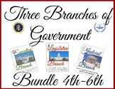 Three Branches of Government Bundle 4th-6th Grade-Lessons and Activities