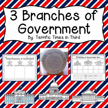 Three Branches of Government: Craftivity and Printables