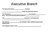 Three Branches of Government Fill in the Blank Notes or As