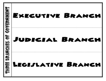 Three Branches of Government Foldable