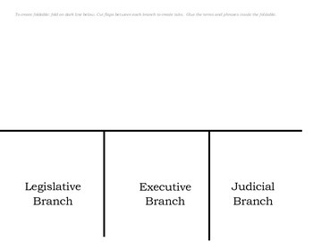 Three Branches of Government Foldable with KEY