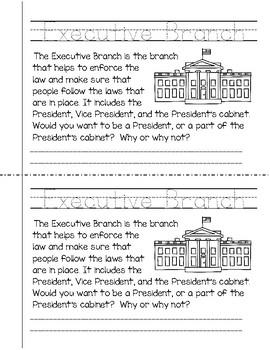 Three Branches of Government Mini-Book