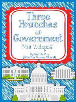 Three Branches of Government - Mini Webquest