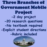 Three Branches of Government Project (Legislative, Executive, & Judicial)