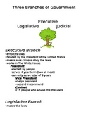 Three Branches of Government Notes Page