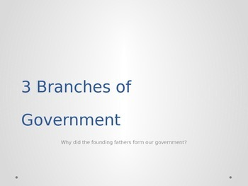 Three Branches of Government PPT