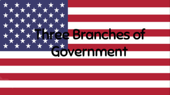 Three Branches of Government PPT & Graphic Organizer