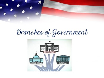 Three Branches of Government Powerpoint EDITABLE!