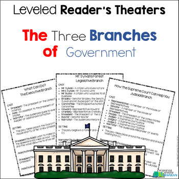 three branches of government readers theater leveled parts tpt. Black Bedroom Furniture Sets. Home Design Ideas