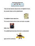 Three Branches of Government Reading Comprehension