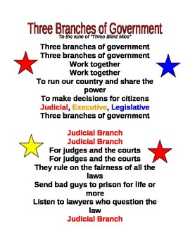 Three Branches of Government Song