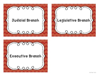 Three Branches of Government Sort