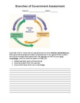 Three Branches of Government Test-- LEAP PREP!