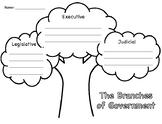 Three Branches of Government - Tree Graphic Organizer