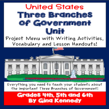 Three Branches of Government Enrichment Projects, Lesson and Vocabulary