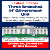 Three Branches of Government Projects, Lesson Handouts and Vocabulary