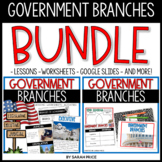 Three Branches of Government Worksheets and Digital Activi