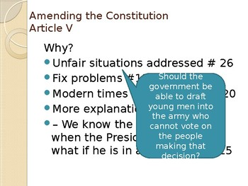 Three Branches of Government and Amendment Process