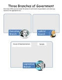 Three Branches of Government graphic organizer